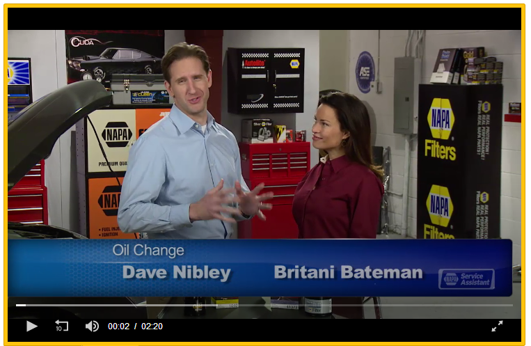 NAPA Oil Change Video Image