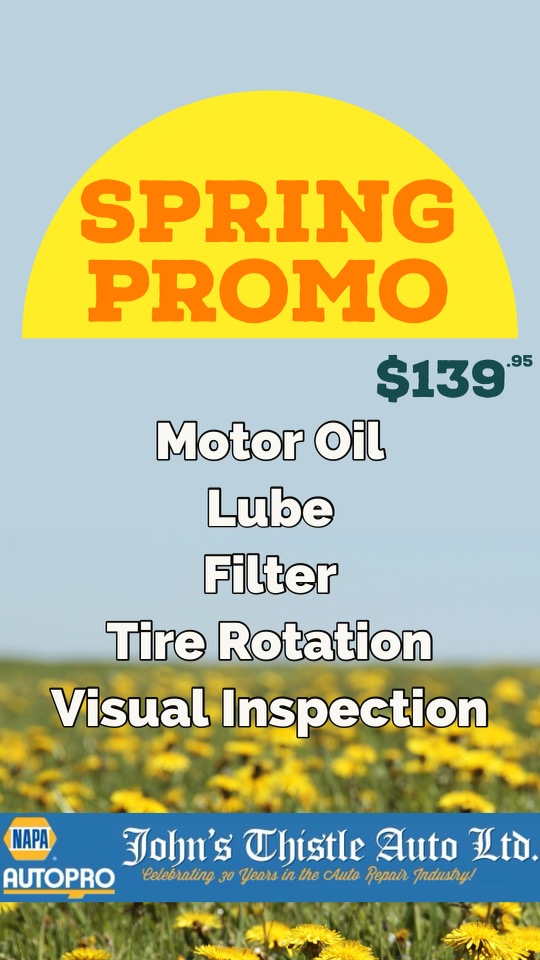 John's Thistle Auto Spring Promo Deal